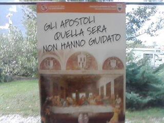 """Manifesto """"Gli apostoli quella sera non hanno guidato"""""""