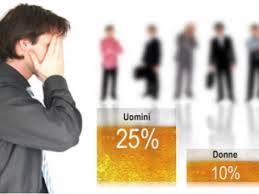 Percentuali alcol uomini e donne