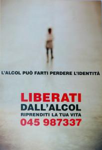 cartolina acat villafranca castel scaligeri liberati dall'alcol
